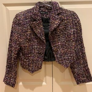Crop tweeted jacket